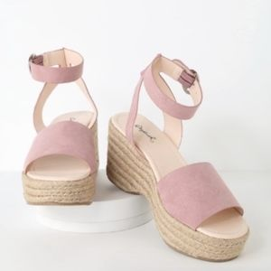 A few left! Blush Pink Platform Espadrille Sandal